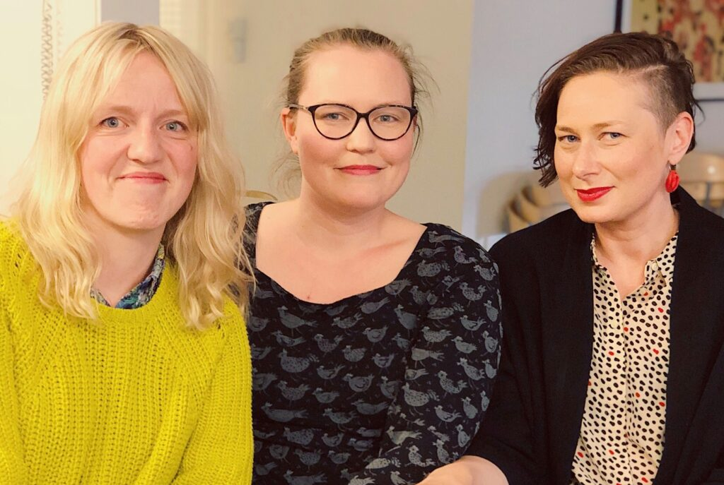 Tre barnmorskor i Uppsala som är kollegor