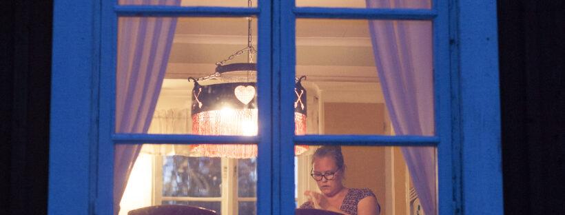 Kväll och fönster
